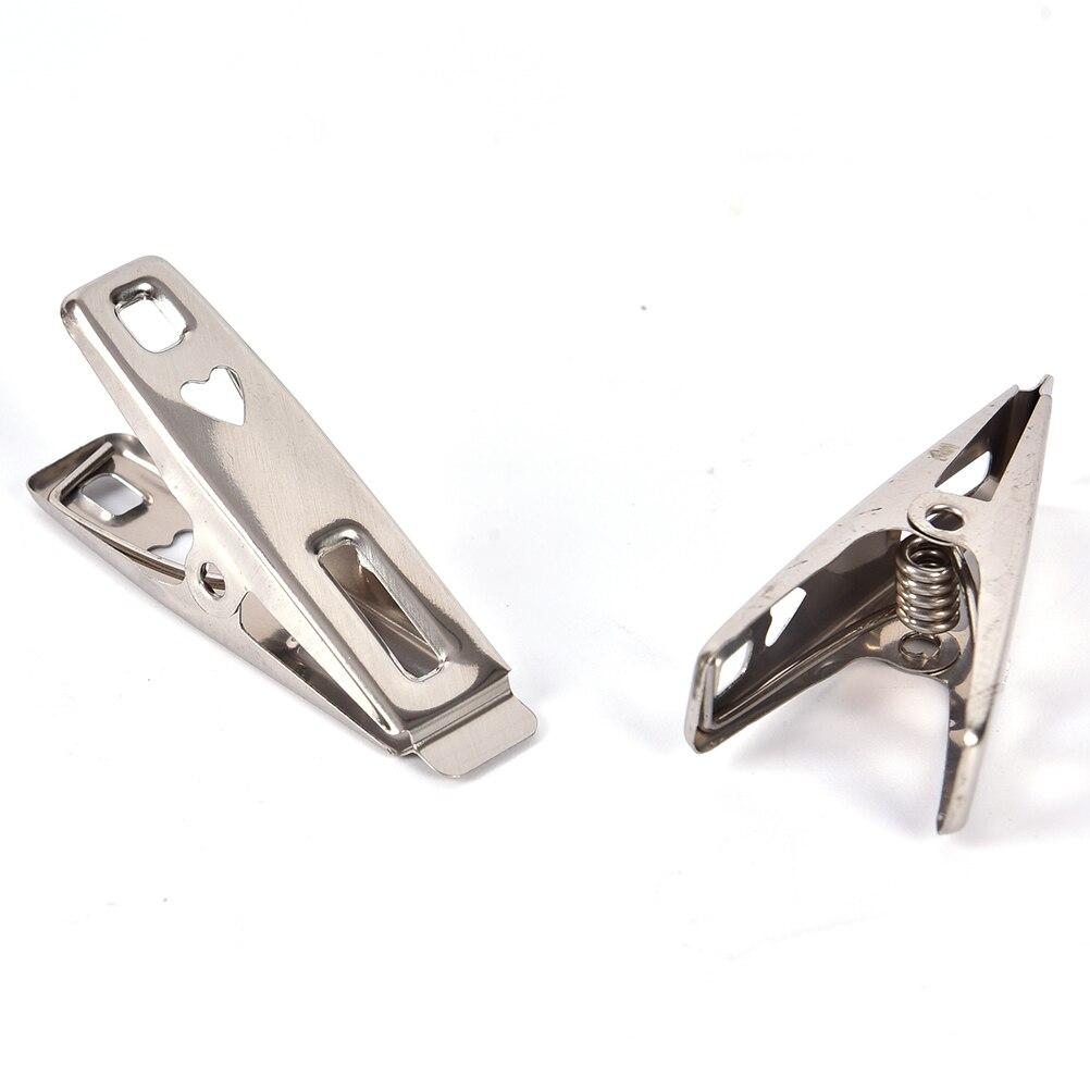 NOBRAND 20 Pinzas para Pinzas de Ropa de Acero Inoxidable duraderas Colgar Calcetines Pinzas para secar Ropa Interior Accesorios para secar Ropa