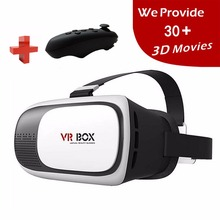 2016 Google Cardboard VR BOX Pro Version VR Virtual Reality 3D Glasses +Smart Bluetooth Wireless Mouse/Remote Control Gamepad