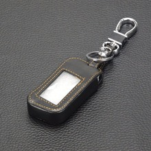 jingyuqin 3 BTNS Remote Leather Key Cover Case A93 Keychaine Case For Starline A93 A63 Two Way Car Alarm