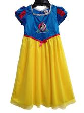 Perfect Quality Princess Snow White girls childrens kids dress summer short sleeve girl dresses fancy costume cosplay