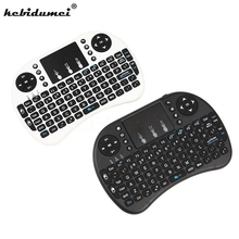 Mini USB 2.4G Wireless Keyboard Air Mouse Keyboard Touchpad Remote Control English Version For Android TV Box Notebook Tablet PC(China)