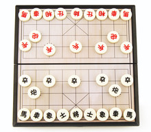 2017 New chinese chess set magnetic foldable Board game 19.5*19.5*3cm Xiangqi Boxed Chess game chessman J080(China)
