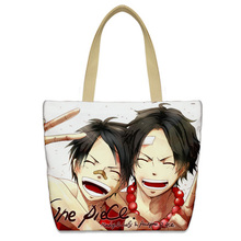 New One Piece Luffy Messenger bag Anime Chopper Cartoon printing School Bags canvas Travel Bag