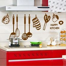 Free Shipping DIY Removable Wall Stickers restaurant /kitchen /utensils/ refrigerator Sticker Kitchen Wall Stickers AY6017