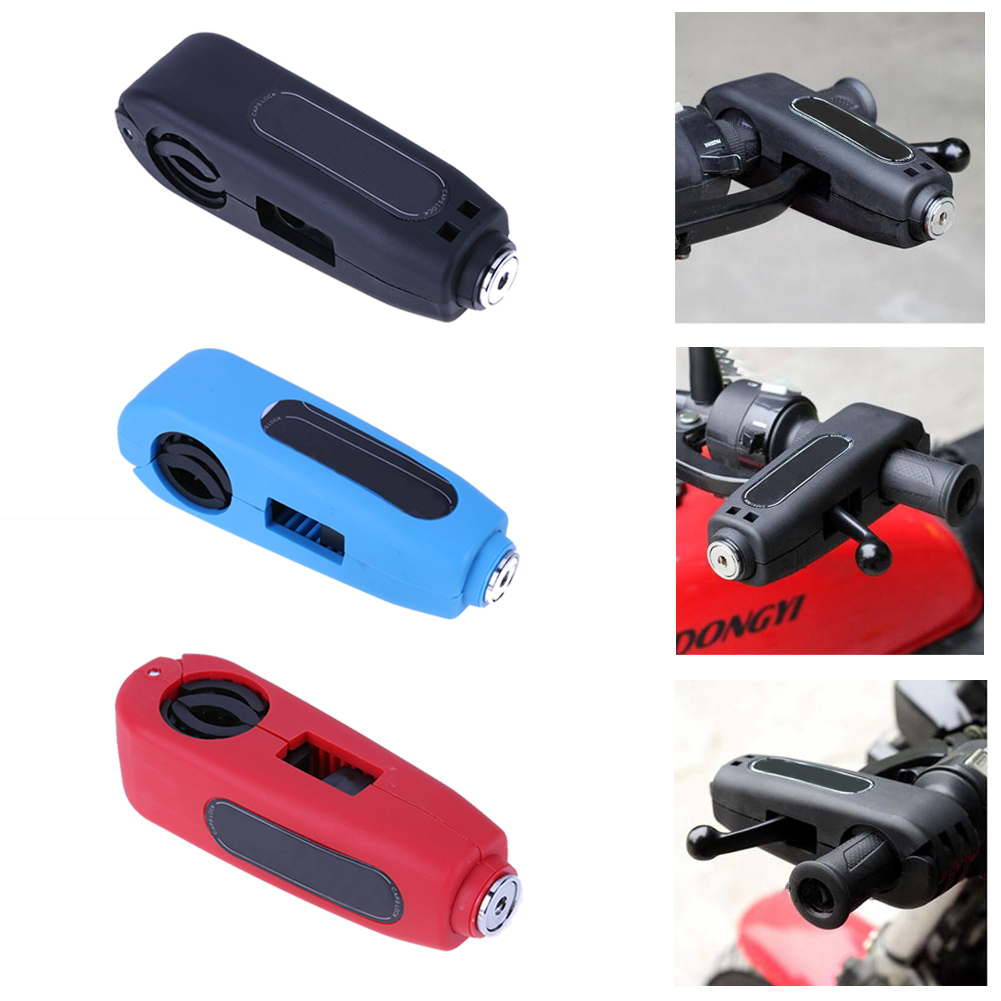 Motorcycle Scooter Handlebar Safety Lock Brake Throttle Grip Security Lock Anti Theft Protection Security Lock High