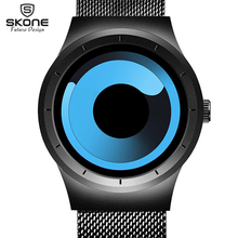 relojes femeninos SKONE Future Creative Fashion Men Women Watches Full Steel Unique Gradient Rotary Dial Watch Relogio Masculino