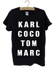 KARL COCO TOM MARC 2017 summer printed female casual t shirts streetwear punk brand hiphop funny t shirt women kawaii tops tees