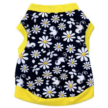 Flowers Cotton Jersey Vest Pet Clothing(China)