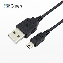 BGreen  Mini 5P 5 Pin USB Cable To USB 2.0 Data Sync Charging 50CM For MP3 Player Hard Disk Camera Mini Speaker Digital Device