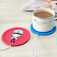 Cliry Hot Silicone Coaster USB Cup Heating Coffee Tea Warmer Pad Mat High Quality Cute Heat Heater Milk Tea Coffee Mug Drink(China)
