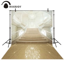 Allenjoy 6.5x10ft photography backdrops European stairs Palace lights wedding background photography for baby studio custom size