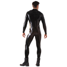 Buy 0.8mm Thickness Latex Catsuit Men Front Zipped Latex Body suit Sock