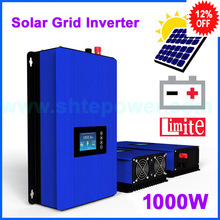 MPPT solar grid tie system inverter 1000w connected 1000GTIL2-LCD DC 22-65v or 45-90v input with Battery Discharge Power Mode(China)