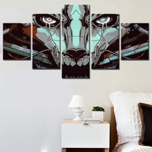 Hot Sale HD Robot Skull Head Cool Home Decorations Wall Art Work 5PCS Oil Painting Canvas High Quality Frameless Fashion Gifts
