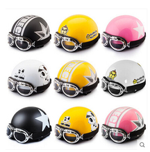 summer helmet  Open Face Motorcycle Goggles  Helmet with glasses capacetes motociclismo cascos para motos