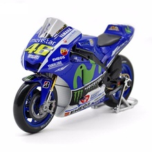 Maisto 1/10 YAMAHA YZR-M1 Rossi Moto GP 2016 Rossi Motorcycle Bike Model NO.46 Diecast Motorbike Kids Toys Gifts F Children