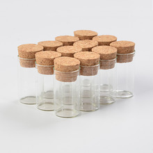 100 pcs 22x40 mm 6ml Clear Transparent Glass Tube Bottles With Cork Stopper Empty Jars Scented Tea Vials Containers(China)