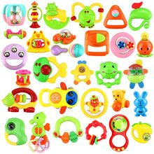 Buy Infant Baby Rattles Newborn Plastic Rattles Hand Jingle Shaking Bell 0-12 Mnoths Teether Developmental Mobile Educational Toys for $1.50 in AliExpress store