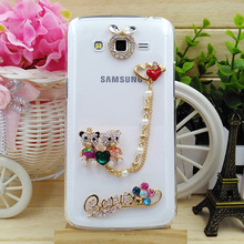 Luxury Diamond Cell Phone Case For Samsung Grand Max/G7200,Fashional Bling Cartoon Pattern Phone Case Shell For Samsung J3/J3109