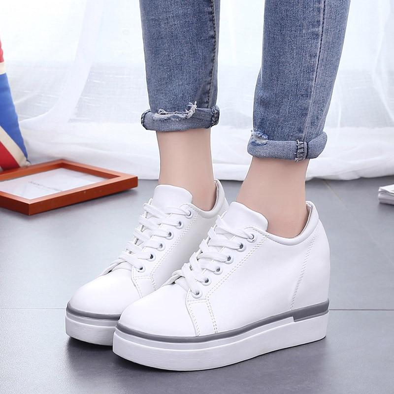 WOLF WHO Women Wedge Harajuku Shoes High Heels Casual Tenis Feminino Platform Krasovki  x322<br>