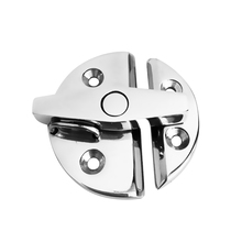 316 Stainless Steel 55mm Twist Lock Round  Marine Boat Door Catch Latch for Marine Canoe Kayak Inflatable Fishing Boat Accessory