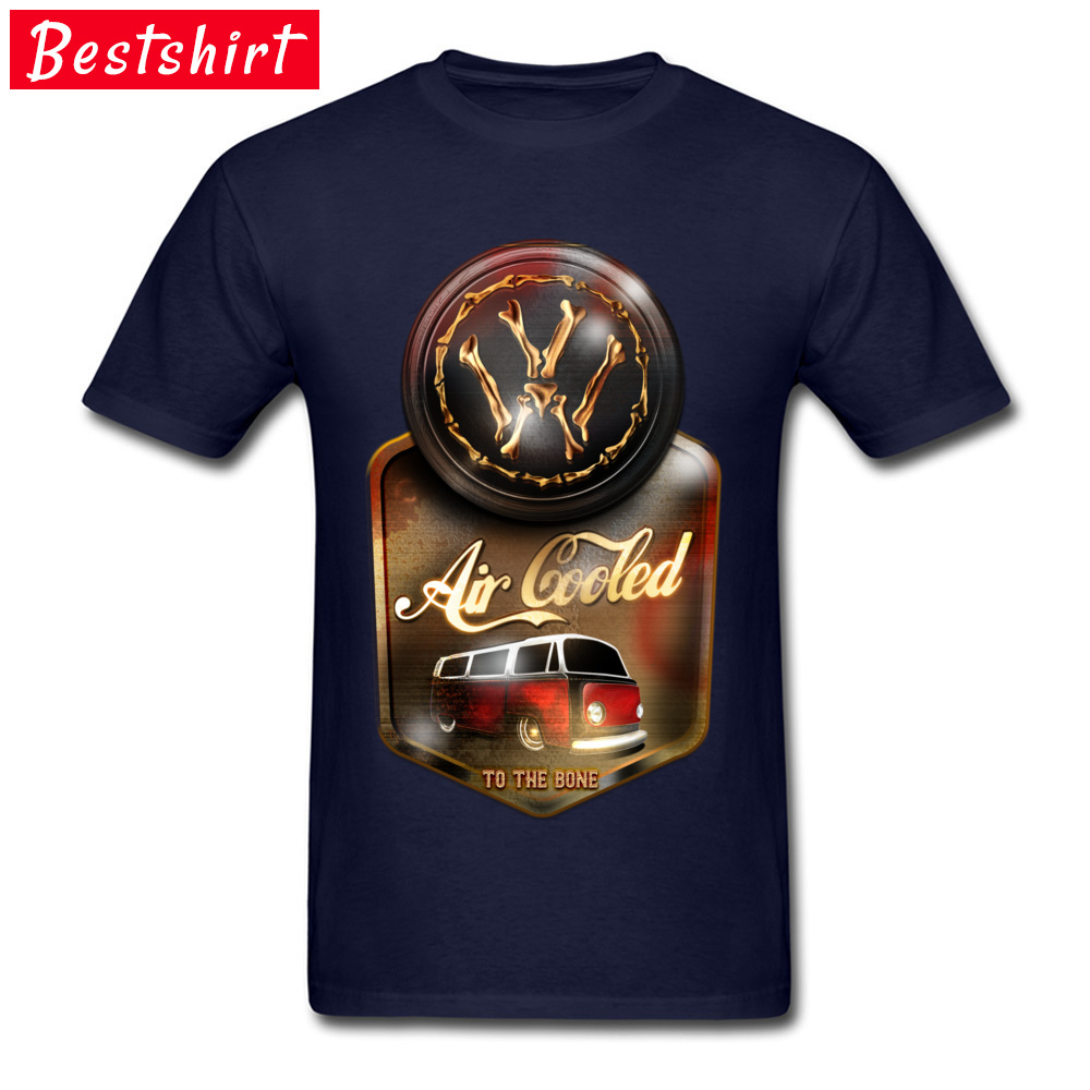 Air Cooled to the Bone Europe NEW YEAR DAY Pure Cotton O Neck Youth Tops & Tees T Shirts 2018 Newest Short Sleeve T-shirts Air Cooled to the Bone navy