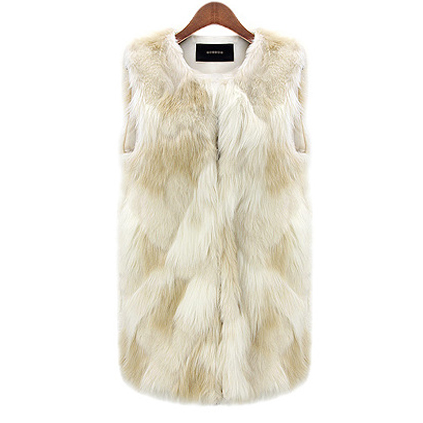 Winter Jacket Women Sleeveless Fur Jackets Slimmin...