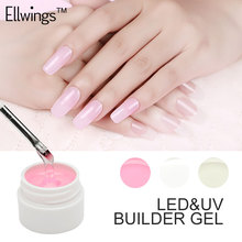 Ellwings Builder Gel Pink White Clear 3 Color Finger Extension UV Gel Polish Semi Permanent Strong False Nail Gel Primer(China)
