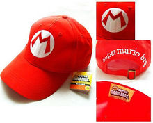 Drop Shipping Super Mario Bros Adjustable Adult Kids Costume Hat Anime Cosplay Red M Green L Mario baseball Cap Gift(China)