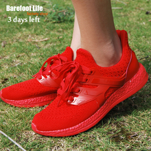 barefoot life red sneakers woman and man,sport running,athletic outdoor walking,breathable comfortable shoes woman & man,zapatos(China)