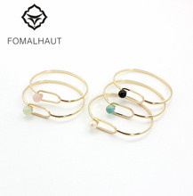 FOMALHAUT Fashion Simple Natural stone imitation pearls can be opened inlaid bracelets & bangles for women XX-66
