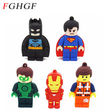 FGHGF Genuine batman USB Flash Drive cartoon super hero iron man memory stick pen drive pendrive 8GB 16GB 32GB emmet u disk(China)