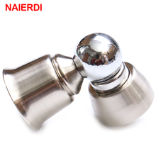 NAIERDI 304 Stainless Steel Magnetic Sliver Door Stop Casting Powerful Mini Door Stopper Holder Catch For Bedroom Home Etc(China)