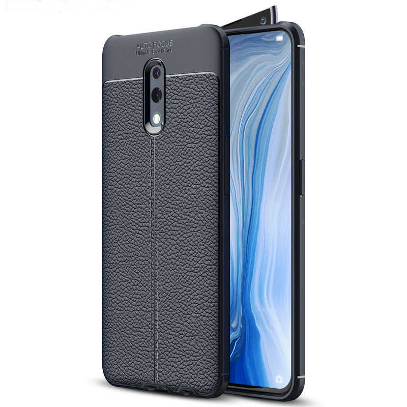 1pcs For OPPO F11 Pro Anti-Shock Ultra Thin Litchi Skin Armour TPU Case For OPPO Reno