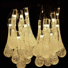 TSLEEN Multifunction Outdoor/Indoor Water Drop String Lights For New Year Christmas Xmas Decor