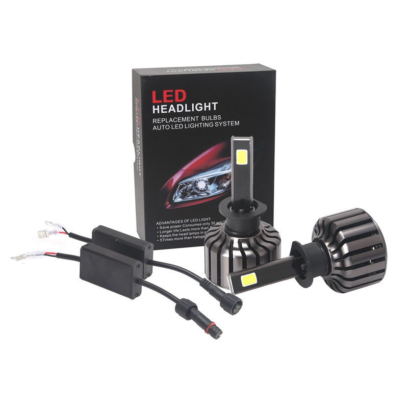 NEW H1 80W 6400LM Car LED Headlight Kit Lights Beam Bulbs 6000K High Power Plug and Play Led Headlight Conversion Kit<br>