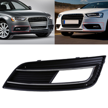 New Car Front Bumper Fog Lights Hood Grill Grille Cover For Audi A4 B8 Facelift 2012-2015 Car Styling Right Side Grilles
