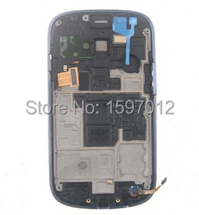 For Samsung Galaxy S3 mini i8190 i8195 i8200 Lcd Display+Touch Glass Digitizer+frame Assembly  replacement parts<br>