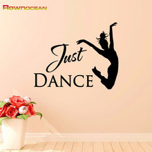 Just Dance Wall Art Stickers Home Decor Vinyl Removable Waterproof Mural sticker Girls Bedroom Sofa Gym Fitness Decor R-29