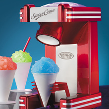ONEZILI Retro Series Household Electric Single Snow Cone Maker Machine Ice Shaver Crusher