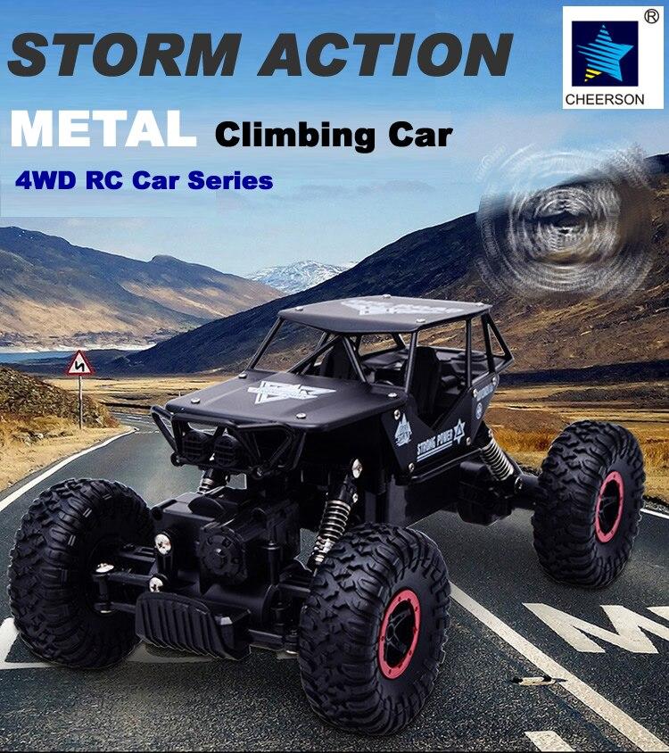 4WD Alloy Metal Climbing Rock Crawler Truck Off Road Car Model Remote Control Eletric Toys <br><br>Aliexpress