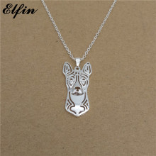 Elfin Wholesale 2017 Trendy Basenji Necklace Gold Color Silver Color Dog Jewellery Congo Dog Pendant Necklace Women steampunk(China)