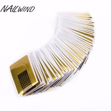 NAILWIND 100PCS Gold Nail Guide Sticker Tape Nail Art Sculpting Extension Nails Forms Guide Stickers Adhesive Acrylic UV Gel Tip(China)