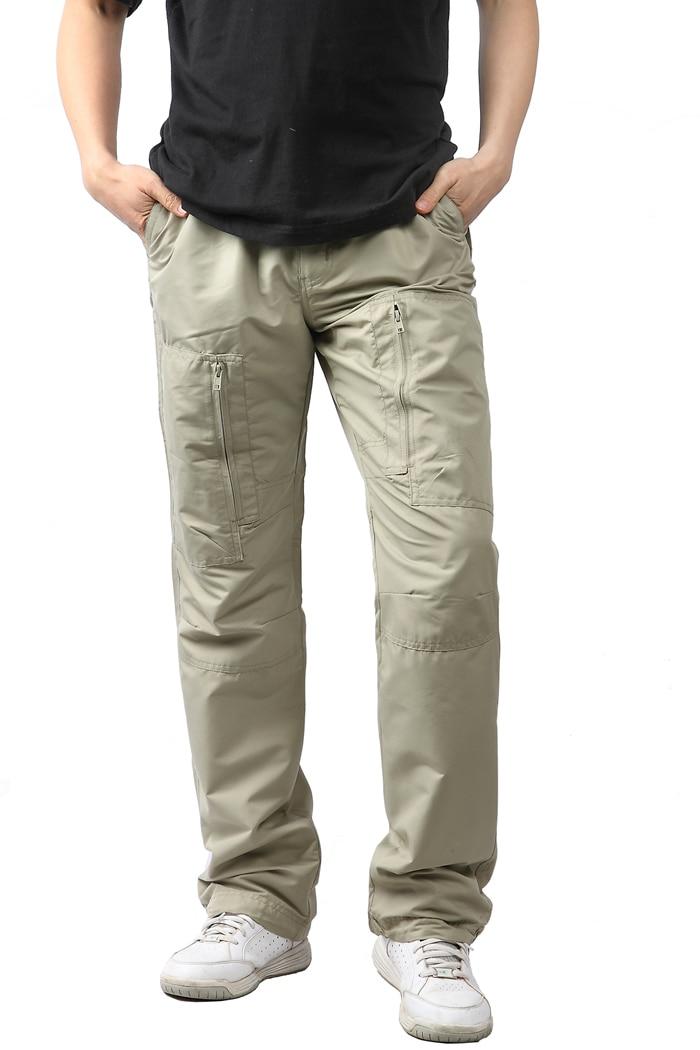 Brand Promotion Men Outdoor Pants Quick-drying Hiking Long Pants Windproof Waterproof YKK Zipper Ultra Weight Size M / L Black  <br><br>Aliexpress