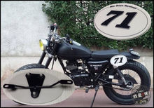 Table NUMBER PLATE for MOTO CAFE RACER tracker scrambler x2(China)