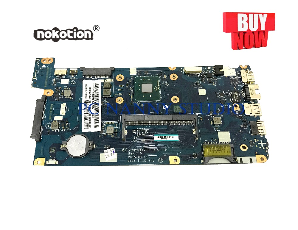 PANANNY  LA-C771P for Lenovo IdeaPad 100-15IBY Laptop motherboard N2940 DDR3  tested