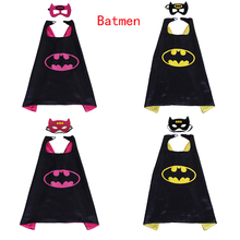 1set Batman Mask Super Hero Boy Wonder Robin Catwoman The Dark Knight Cloak Kids Birthday Gift Costume Cosplay Party Supplies(China)