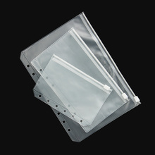 3 PCS Transparent PVC Storage Card Bag for Traveler Notebook Diary Planner Zipper Bag Filing Products(China)