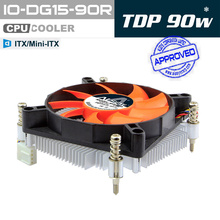 ALSEYE CPU Cooler Aluminum Heatsink with 90mm Fan, TDP 90W 4pin PWM CPU Fan for LGA 1150/1151/1155/1156(China)