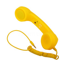 Hot selling 3.5mm Retro Telephone Handset Radiation-proof adjustable tone Cell Phone Receiver Microphone Earphon for iPhone